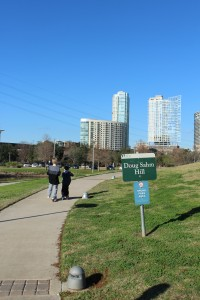Doug Sahm Hill in Butler Park is a great place to ride scooters.