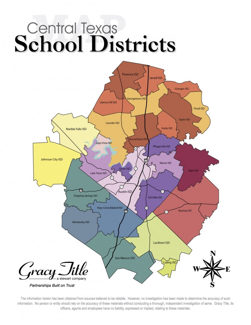 Texas Isd Map Central Texas School District Map   Cedar Park Texas Living
