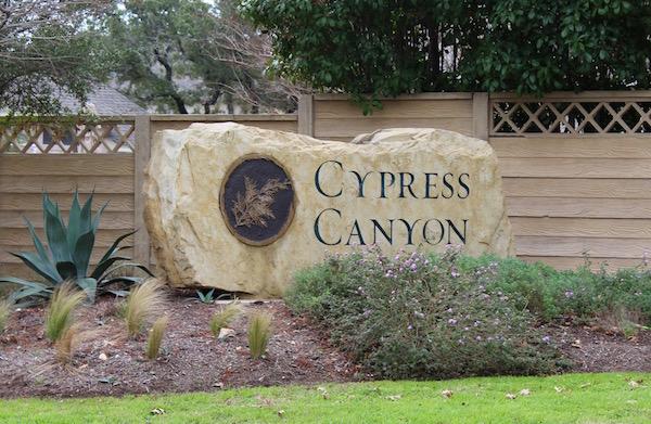 Cypress Canyon Neighborhood in Cedar Park, Texas