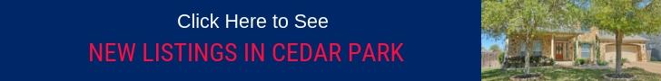 New Listings Cedar Park