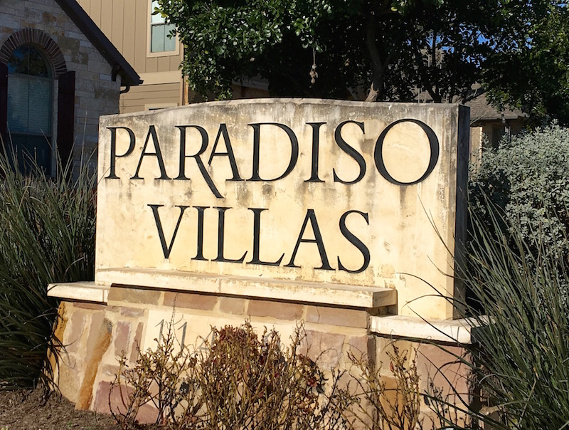 Paradiso Villas, luxury condo development in Cedar Park, Texas.