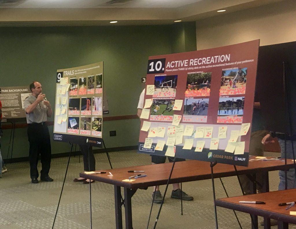 Planning meeting for Lakeline Park