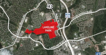 Location of Lakeline Park