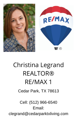 Christina Legrand REALTOR® RE/MAX 1 Cedar Park Texas